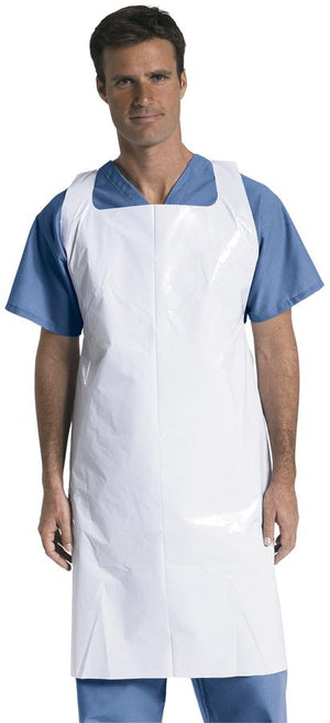 Protective Polyethylene Disposable Aprons,White, Case of 500