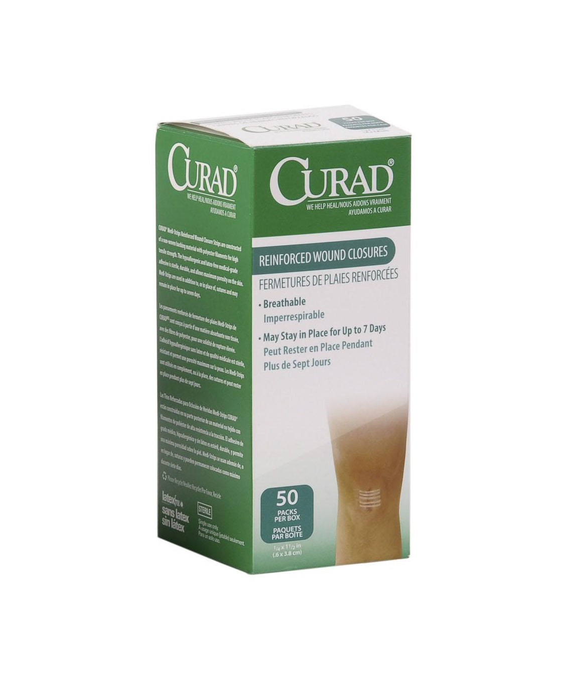 CURAD Sterile Medi-Strips,White, Box of 300