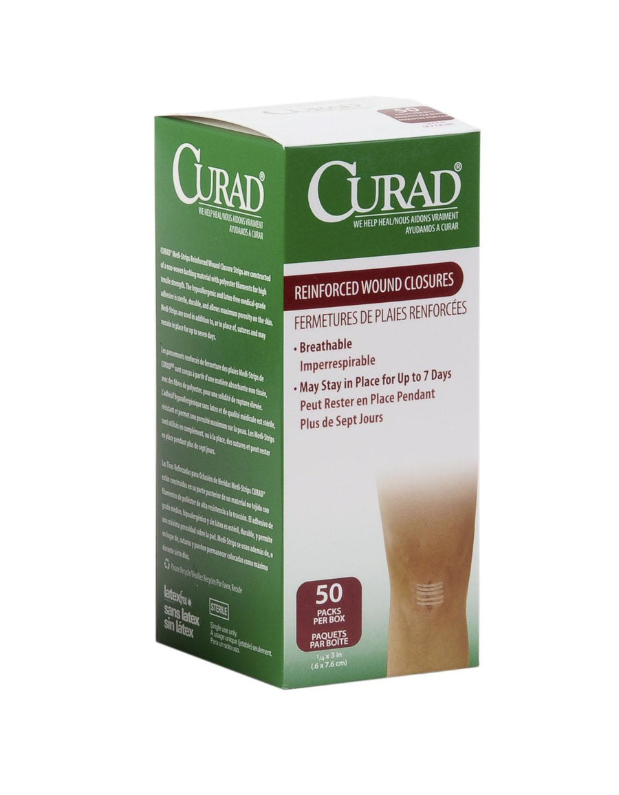 CURAD Sterile Medi-Strips,White, Box of 150