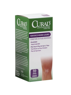 CURAD Sterile Medi-Strips,White, Box of 50 Pack