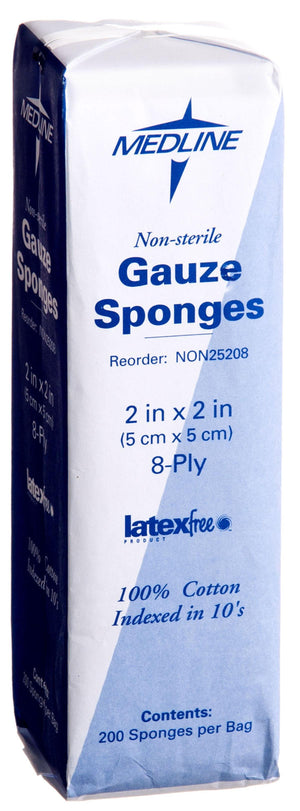 Woven Non-Sterile Gauze Sponges, Case of 5000