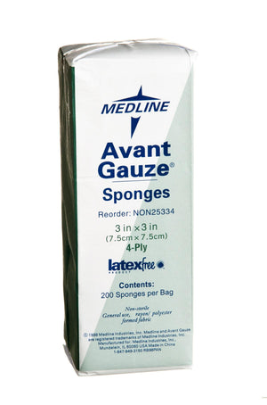 Avant Gauze Non-Woven Non-Sterile Sponges, Bag of 200