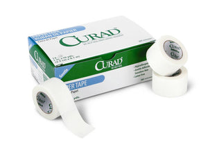 CURAD Paper Adhesive Tape,White, Box of 12 Roll