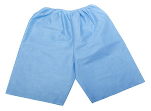 Disposable Exam Shorts,Blue,X-Large, Case of 30