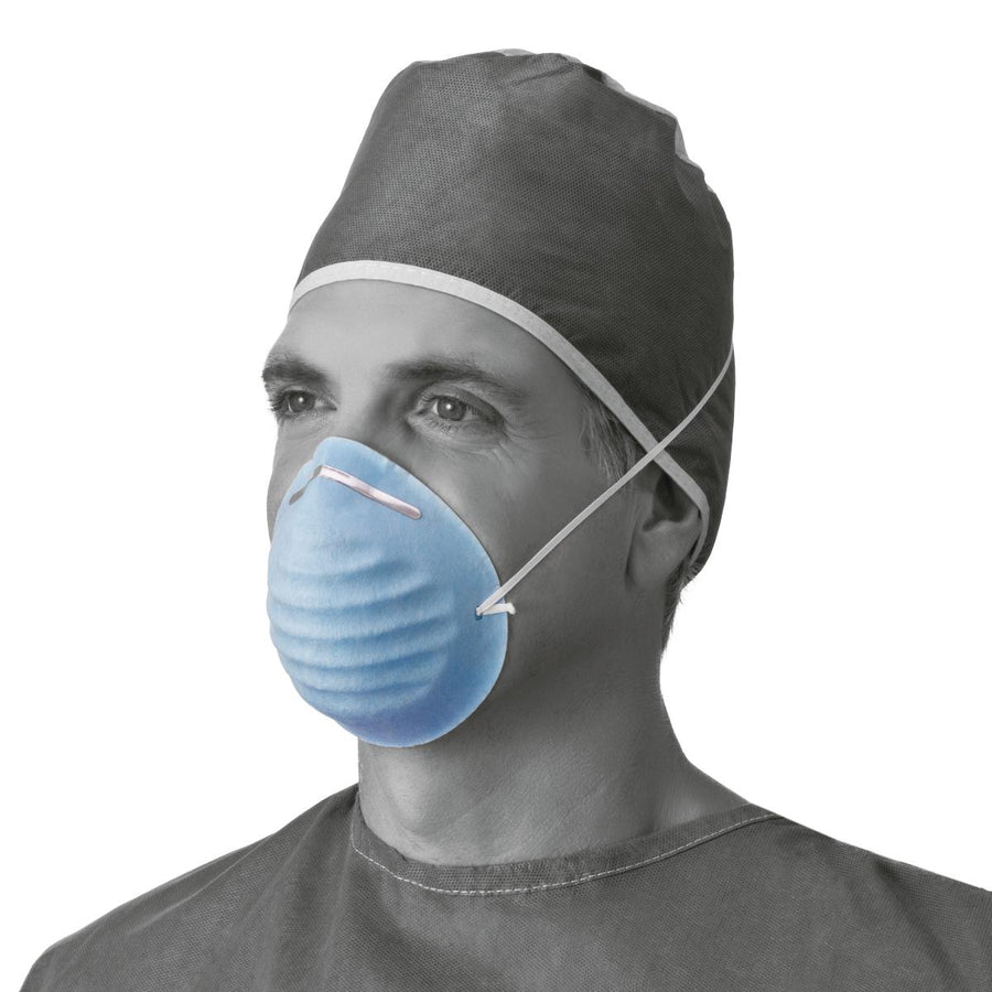 Surgical Cone-Style Face Mask,Blue, Case of 300