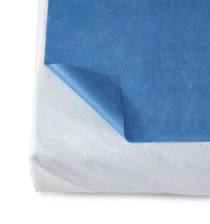 Disposable Flat Bed Sheets,Dark Blue, Case of 50