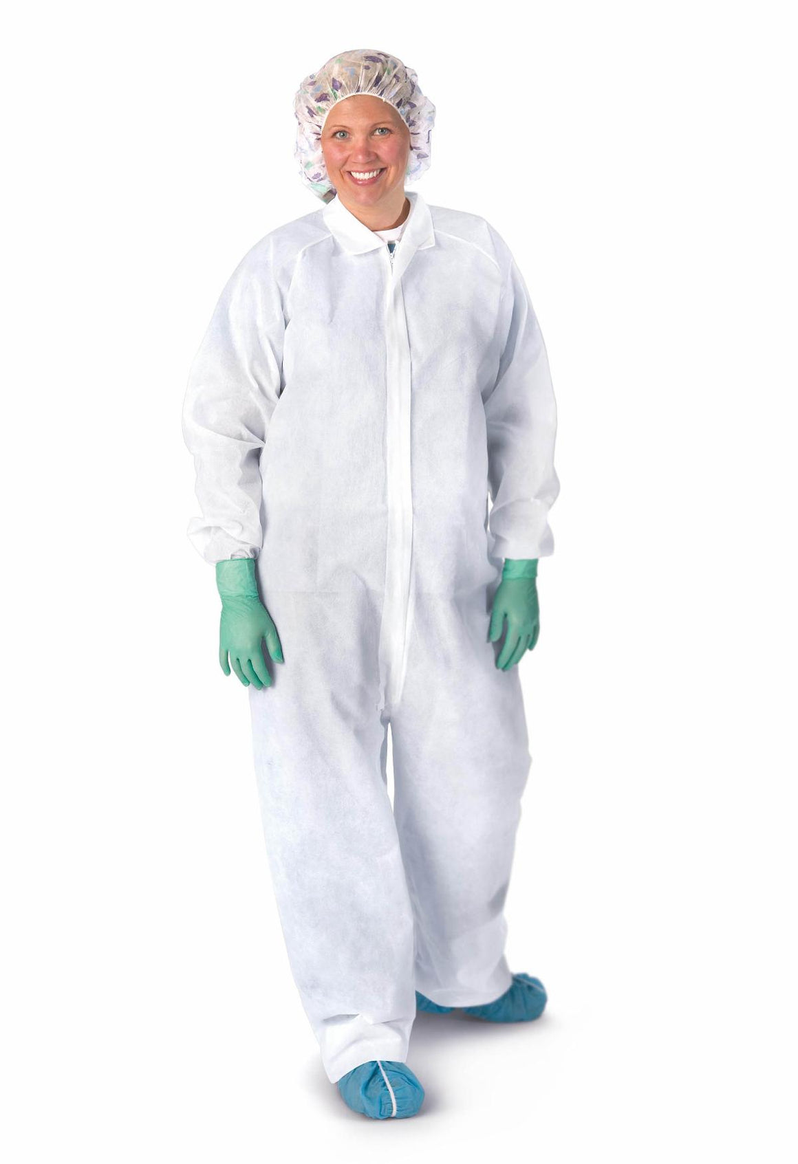 Heavyweight Spunbond Polypropylene Coveralls,White,X-Large, Case of 25