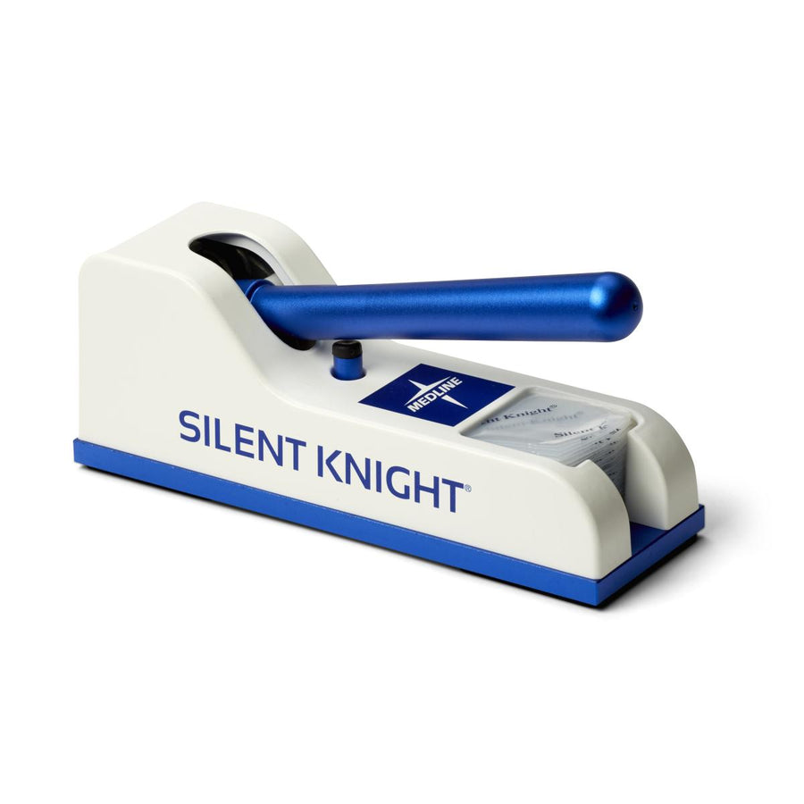 Silent Knight Pill Crusher,Blue/White, Each