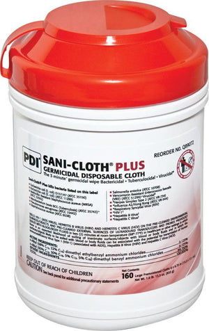 SANI-CLOTH Plus Germicidal Disposable Cloths, Carton