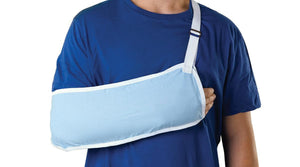 Standard Arm Slings,Light Blue,Medium, Each