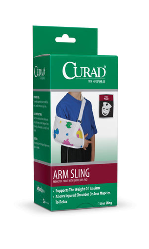 CURAD Pediatric Arm Slings,Pediatric Print,Toddler, Case of 2