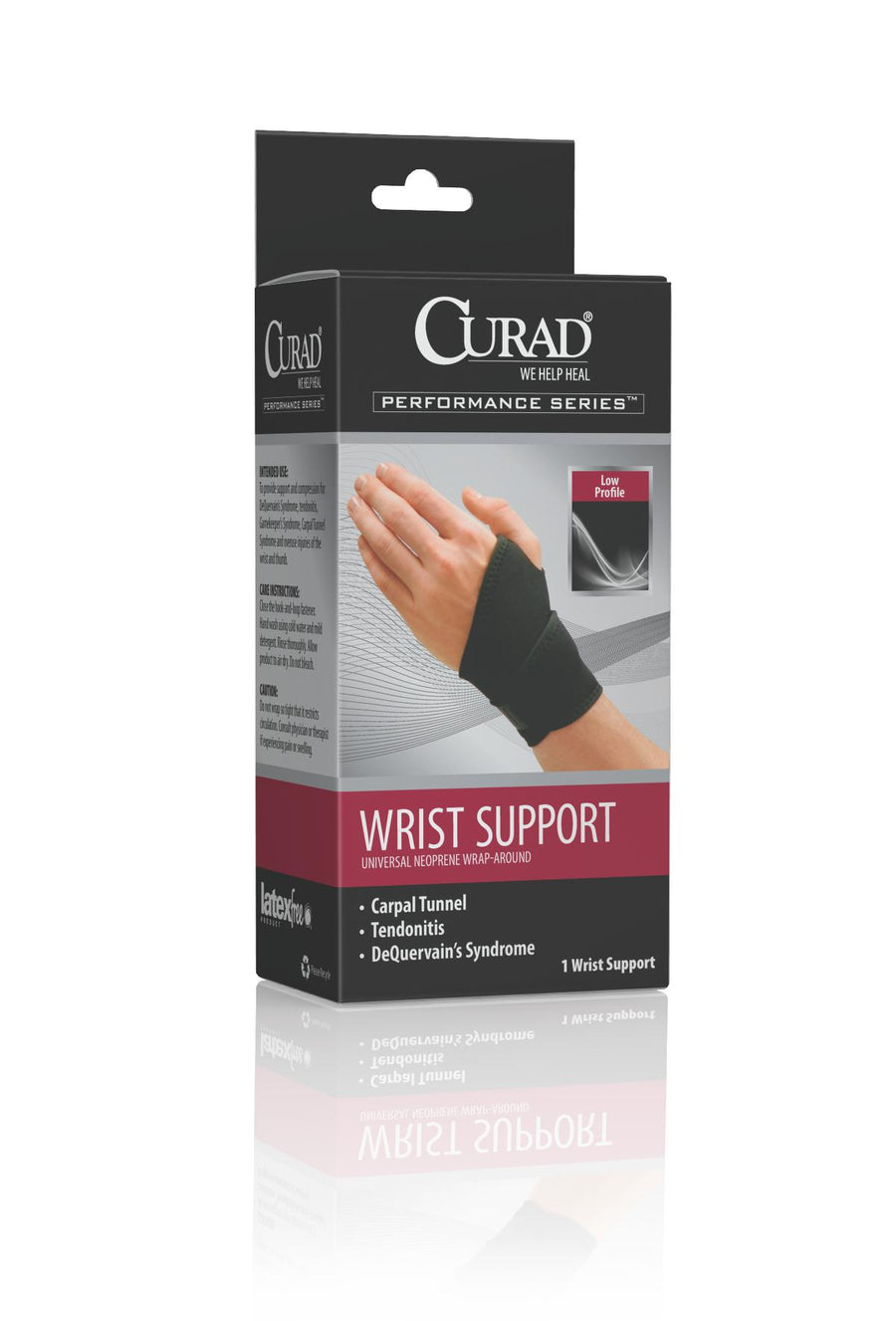 CURAD Universal Wrap-Around Wrist Supports,Universal, Case of 4