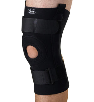 U-Shaped Hinged Knee Supports,Black,2X-Large, Each