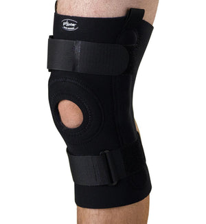 U-Shaped Hinged Knee Supports,Black,4X-Large, Each