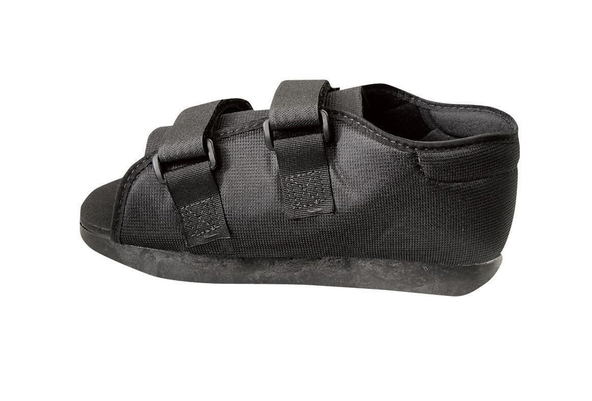 Semi-Rigid Post-Op Shoes,Black,Large, Each