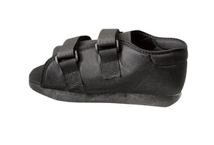 Semi-Rigid Post-Op Shoes,Black,Medium, Each
