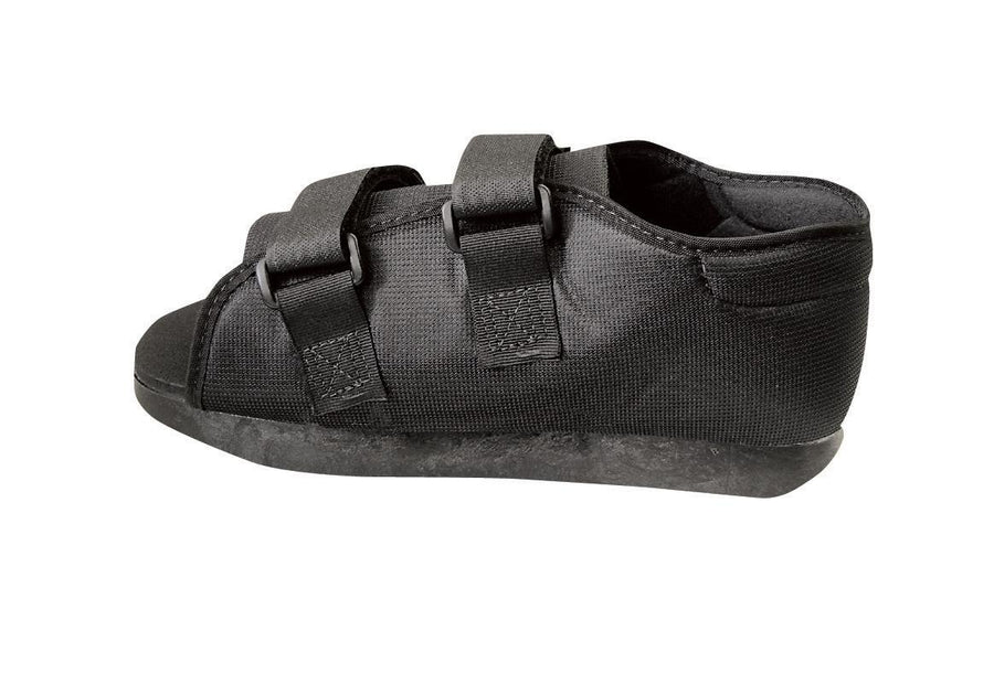 Semi-Rigid Post-Op Shoes,Black,Small, Each