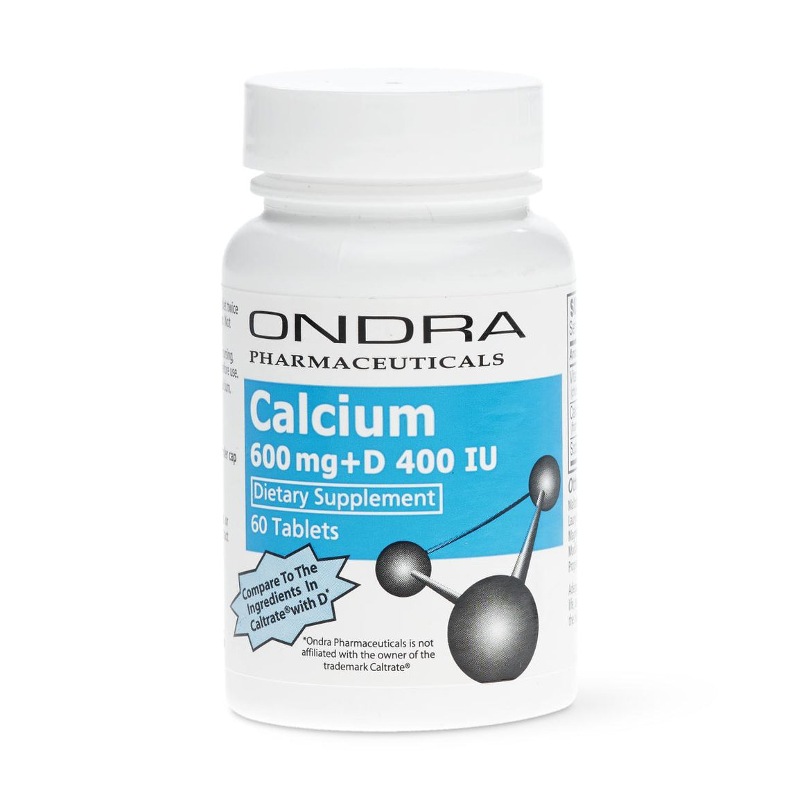 Calcium with Vitamin D Tablets, Bottle