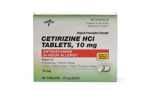 Cetirizine Tablets, Bottle
