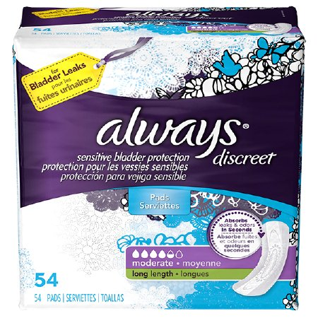 Always Discreet Absorbent DualLock Female Disposable Incontinence Liner