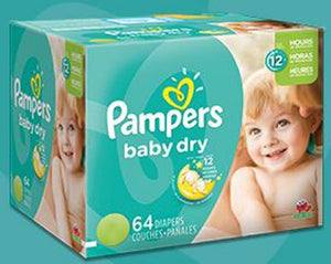 Pampers Absorbent Disposable Baby Dry Baby Diaper Tab Closure