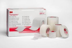 "3M 1527-0_BX TRANSPORE Hypoallergenic Adhesive Tape 10yds x1/2""W Box of 24"