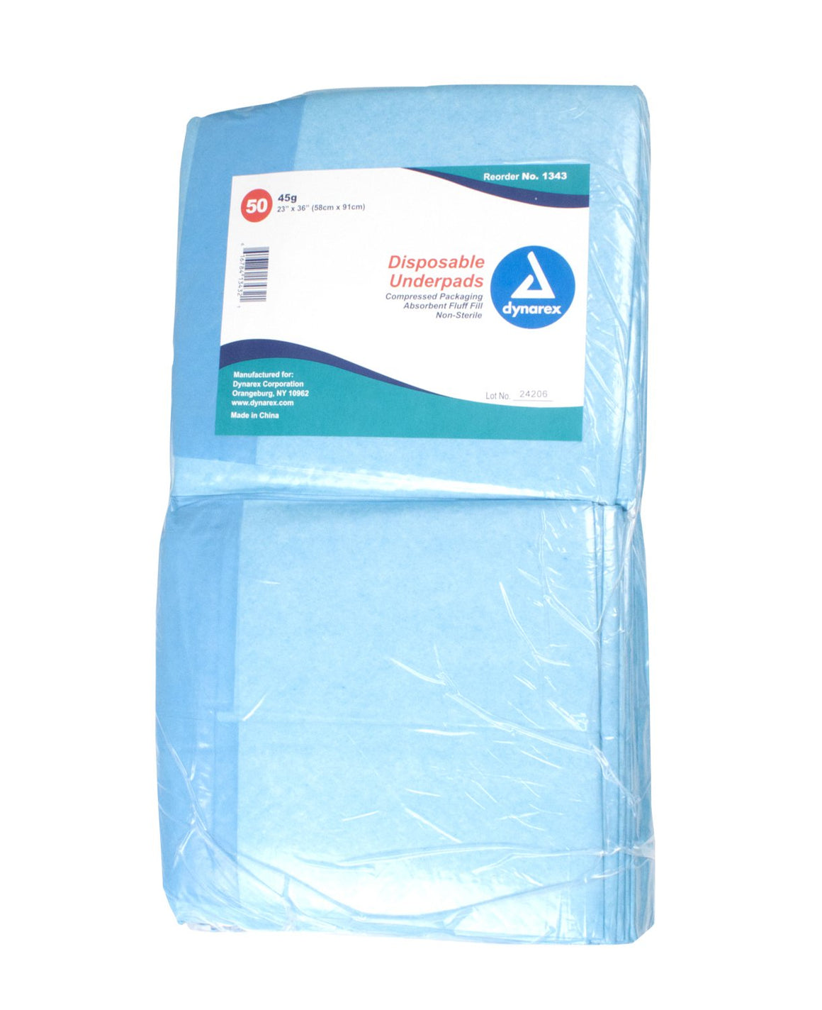 Dynarex¨ Disposable Fluff Absorbent Underpad