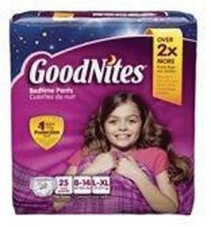 GoodNites Absorbent Pull On Disposable Youth Absorbent Underwear