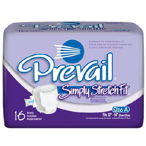 Prevail Simply StretchFit Absorbent Disposable Adult Incontinent Brief Tab Closure
