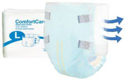 ComfortCare Absorbent Disposable Adult Incontinent Brief Tab Closure
