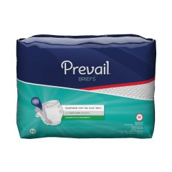 Prevail Absorbent Disposable Adult Incontinent Brief Tab Closure