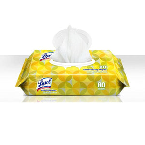 Lysol 99716CT Disinfecting Wipes with Lemon and Lime Blossom Scent, 80 Wipes/Pack, 6 Pack/Case