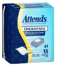 Attends¨ Discreet Disposable Polymer Absorbent Underpad
