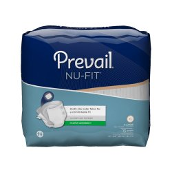 Prevail Nu Fit Absorbent Disposable Adult Incontinent Brief Tab Closure
