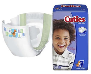 Cuties Absorbent Disposable Baby Diaper Tab Closure