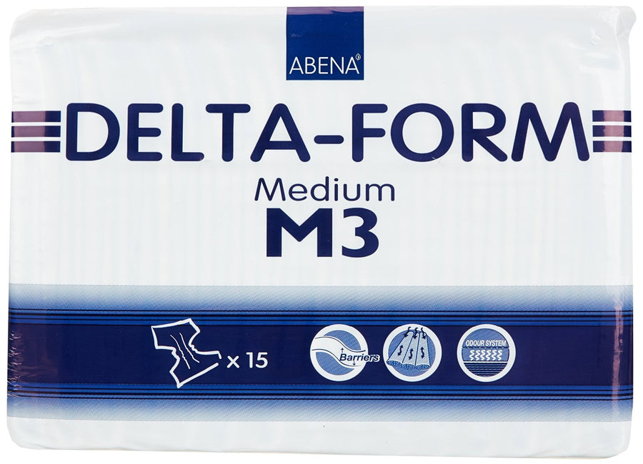 Abena Delta Form Absorbent Adult Disposable  Incontinent Brief Tab Closure