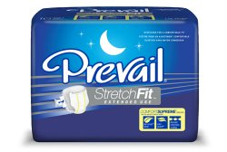 Prevail StretchFit Absorbent Disposable Adult Incontinent Brief Tab Closure