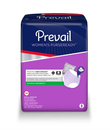 Prevail PurseReady Absorbent Disposable Pull On Adult Absorbent Underwear