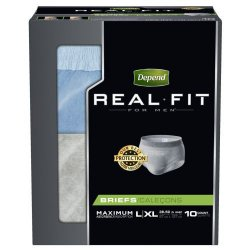Depend Real Fit Absorbent Pull On Disposable Adult Absorbent Underwear