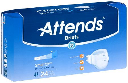Attends Absorbent Disposable Adult Incontinent Brief Tab Closure
