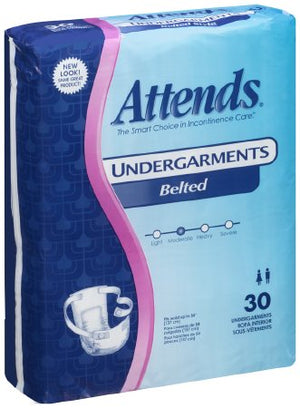 Attends Absorbent Disposable Adult Incontinent Pull On Belted Undergarment