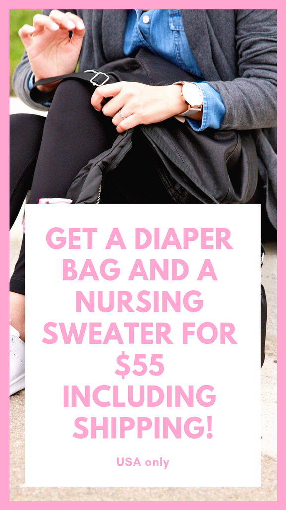 Get a diaper bag and a nursing sweater for $55 including shipping!