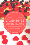 Valentine's Cupids hearts fruit plate with Jello
