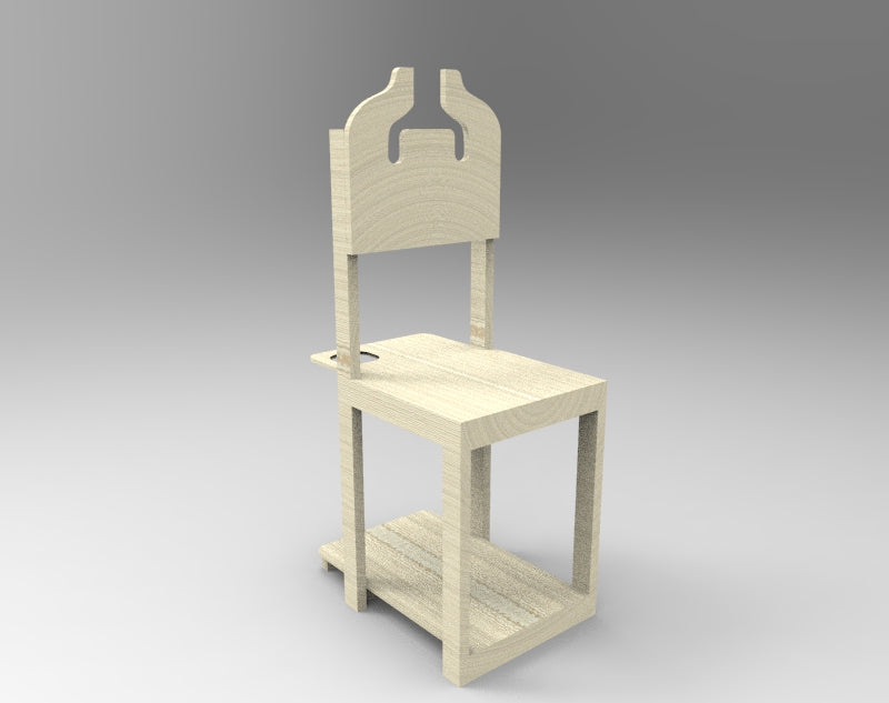 DIY School Organization Chair with free downloadable plan