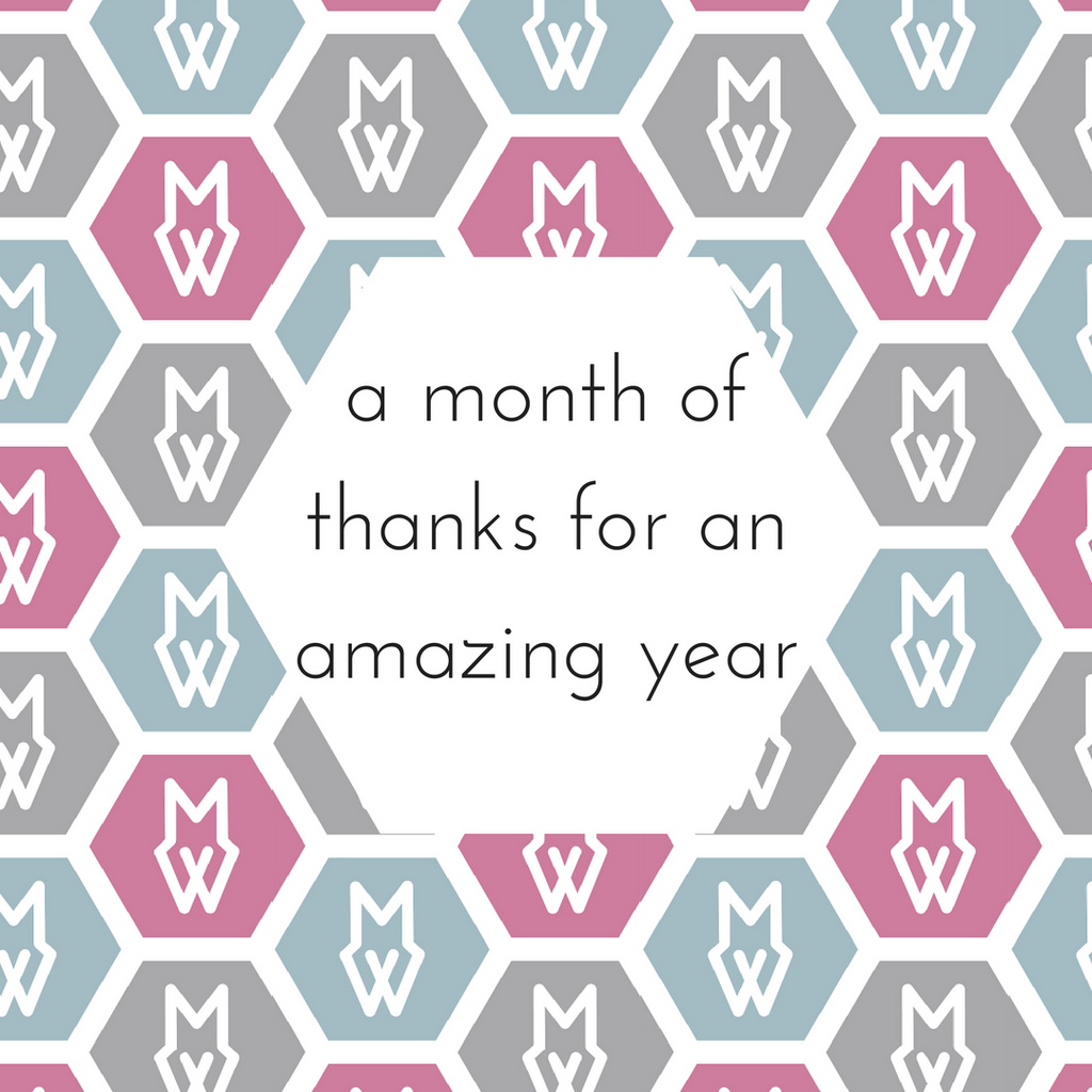 A month of thanks for an amazing year
