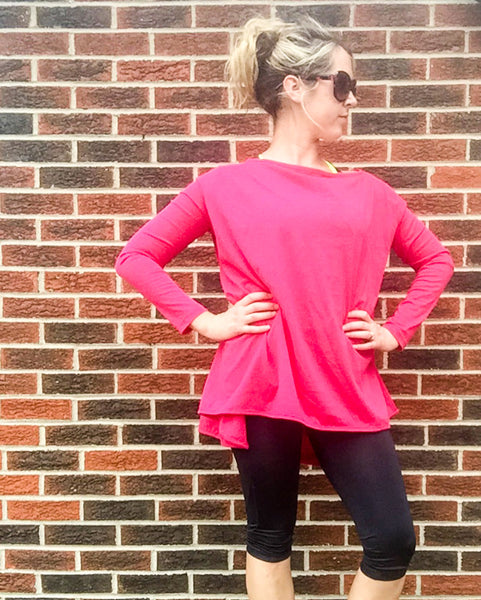 Happy Pink Jersey Knit Cardimom