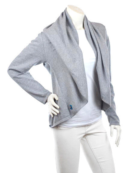 Cardimom grey cardigan convertible nursing sweater