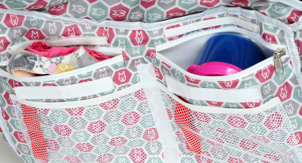 Care Tote has wipe clean insulated pockets and lots of labels and pockets