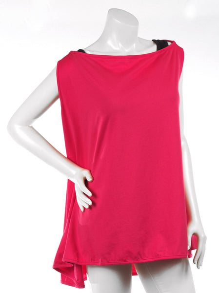 Jersey Tank Cardimom® in Happy Pink, poncho mode
