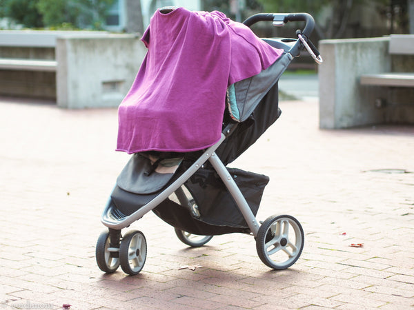 Cardimom magenta cardigan convertible nursing sweater into stroller blanket cover